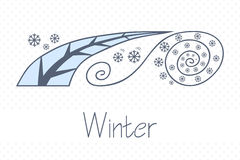 Abstract picture with season winter Stock Photo