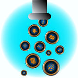 Abstract picture web icon Royalty Free Stock Photography