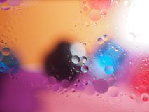 Abstract pictures. Multicolored circles on a colorful background. Abstraction. Wallpaper Stock Images