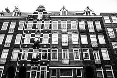 Abstract picure of amsterdam houses. Conceptual picture of amsterdam housefronts Stock Images