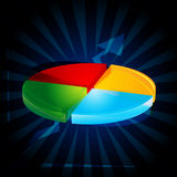 Abstract pie chart. Illustration of abstract pie chart Stock Photos