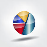 Abstract pie chart. Royalty Free Stock Images