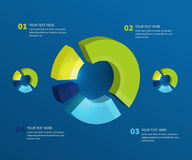 Abstract pie chart graphic for business design Royalty Free Stock Photos
