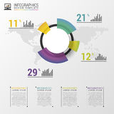 Abstract pie chart graphic for business design. Modern infographic template. Vector illustration.  Royalty Free Stock Photos