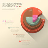 Abstract pie chart infographics Royalty Free Stock Image