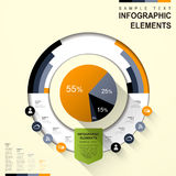 Abstract pie chart infographics Royalty Free Stock Images