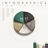 Abstract pie chart infographics. Modern vector abstract 3d pie chart infographic elements Stock Images
