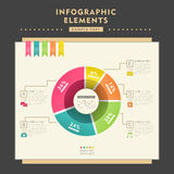 Abstract pie chart infographics Stock Photography