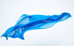 Abstract piece of blue fabric flying Stock Photography