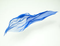 Abstract piece of blue fabric flying Stock Images