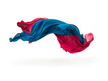 Abstract pieces of textile motion Stock Photography