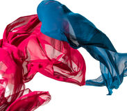 Abstract pieces of textile motion Stock Images