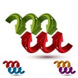 Abstract pijlen vectorsymbool, vector grafisch ontwerpmalplaatje, v Stock Afbeelding