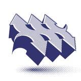 Abstract pijlen vectorsymbool, vector grafisch ontwerpmalplaatje, v Stock Afbeeldingen