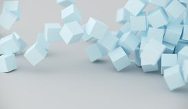 Abstract Pile Of Cubes. 3D Rendering Of Abstract Pile Of Cubes Background Stock Image