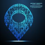 Abstract pin, vector illustration. Network connections with points and lines. Abstract technology background royalty free illustration