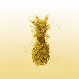 Abstract Pineapple Illustration Royalty Free Stock Photography