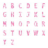 Abstract pink alphabets A to Z 2 Royalty Free Stock Photos
