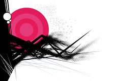 Abstract pink background. An pink illustrated background with abstract design Stock Images