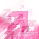 Abstract pink background with arrows. Royalty Free Stock Photo