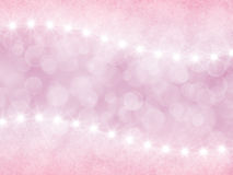 Abstract pink background with boke and stars Stock Photography