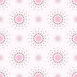 Abstract pink background with circles.