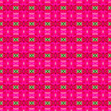 Abstract pink background and colorful seamless pattern Stock Photos