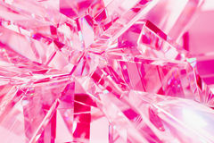 Abstract pink background of crystal refractions Royalty Free Stock Images