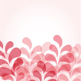 Abstract pink background with floral drops Stock Images