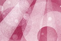 Abstract pink background with layers of circles and light beams Royalty Free Stock Photography