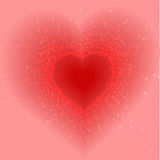 Abstract pink background of little hearts Royalty Free Stock Photos