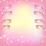 Abstract pink background with ribbons Royalty Free Stock Photography