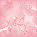 Abstract pink background with swirls Royalty Free Stock Photography