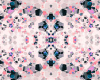Abstract pink blue bokeh wallpaper Royalty Free Stock Image