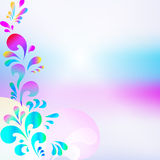 Abstract pink blue drop background. Vector abstract pink blue drop background Royalty Free Stock Photos