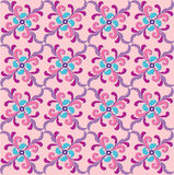 Abstract pink and blue floral geometric Seamless T Stock Images