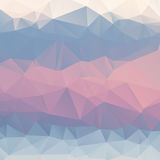 Abstract pink, blue, light blue background. Polygon. Geometric backdrop Stock Image