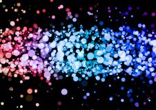 Abstract pink blue purple color bokeh wallpaper Stock Photo