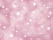 Abstract pink boke background with stars. Abstract pink pastel background with boke effect and stars Stock Photos