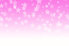 Abstract pink bokeh stars background stock illustration