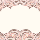 Abstract pink borders Royalty Free Stock Images