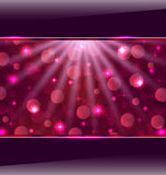 Abstract pink card with bokeh effect Royalty Free Stock Photos