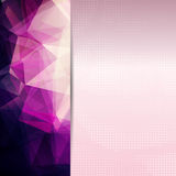 Abstract pink card or invitation template. Stock Photography