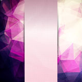 Abstract pink card or invitation template Stock Image