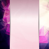 Abstract pink card or invitation template. Royalty Free Stock Photos