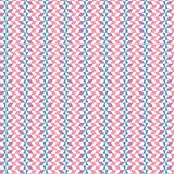 Abstract Pink Checkered Scribble Stripe Zig Zag Geometric Pattern Fabric Background. Abstract Vibrant Checkered Geometric Seamless Stripe Pattern Fabric Texture vector illustration