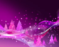 Abstract pink Christmas card. Abstract Christmas card with Christmas tree Stock Image