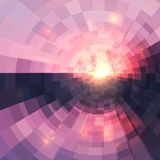 Abstract pink circle technology mosaic background Royalty Free Stock Images