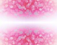 Abstract pink color bokeh wallpaper Stock Photos