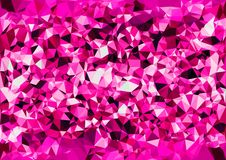 Abstract pink color shiny low poly bokeh wallpaper Stock Image